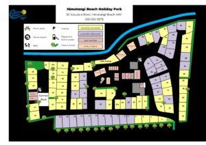 Camp Map Web pdf 300x212 - Camp Map - Web - Himatangi Beach Holiday Park
