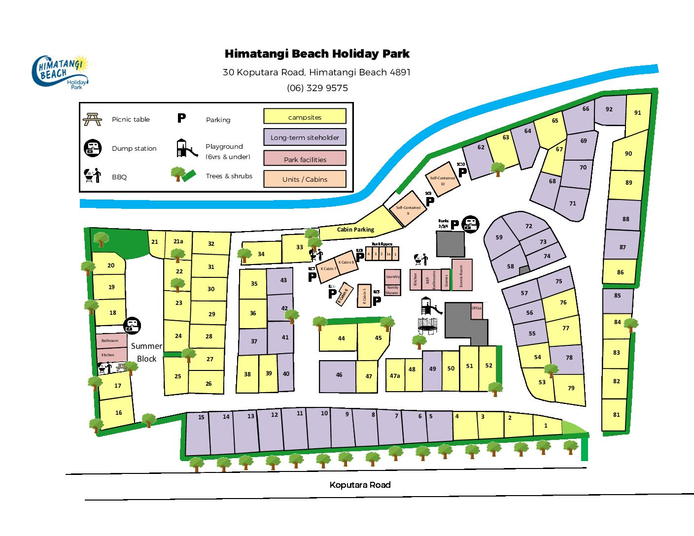 Camp Map jan 2020 pdf - Camp Map - Himatangi Beach Holiday Park